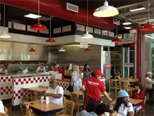Dining Room at Five Guys, Culver City, CA