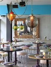 Dining room at Sunny Spot, Venice, CA