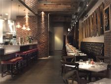 Dining room at Tar & Roses, Santa Monica, CA