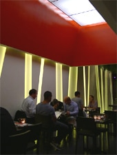 Dining room at Yojisan Sushi, Beverly Hills, CA
