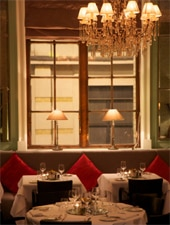 Dining room at 1 Lombard Street, London, UK