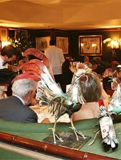 Dining room at Le Gavroche, London, UK