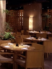 Dining room at Zuma, London, UK