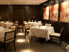Dining room at Benares, London, UK