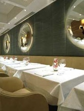 Dining room at Locanda Locatelli, London, UK