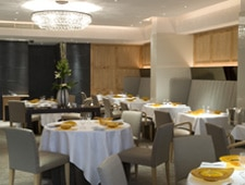 Dining room at Hibiscus, London, UK