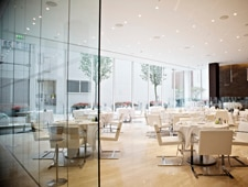 Dining room at L'Anima, London, UK