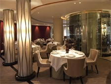 Dining room at Petrus, London, UK