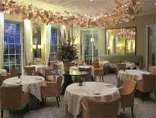 Dining room at Restaurant Coworth Park, Berkshire, UK
