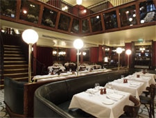 Dining room at Les Deux Salons, London, UK