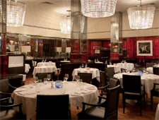 Dining room at Savoy Grill, London, UK