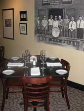 Dining room at Bourbons Bistro, Louisville, KY