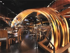 Dining room at SUSHISAMBA strip, Las Vegas, NV