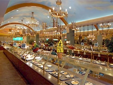 Dining room at Excalibur Buffet, Las Vegas, NV