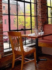 Dining room at Fore Street, Portland, ME