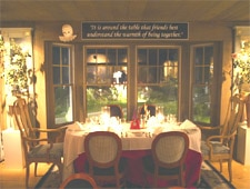 Dining room at On the Marsh Restaurant, Kennebunk, ME