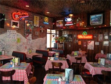 Dining room at Huey's , Memphis, TN