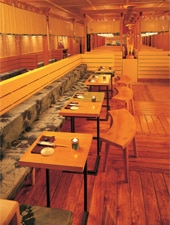 Dining room at Doraku, Miami Beach, FL