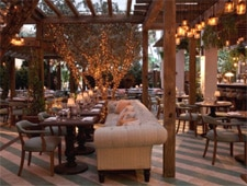 Dining room at Cecconi's, Miami Beach, FL