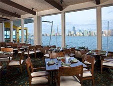 Dining room at The Rusty Pelican, Key Biscayne, FL