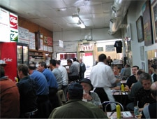 Dining room at Schwartz's, Montréal, canada