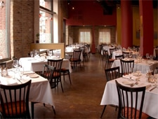 Dining room at Saffron Restaurant & Lounge, Minneapolis, MN