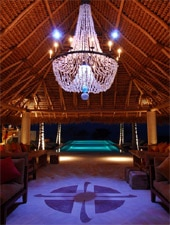 Dining room at Sufi, Punta de Mita, mexico
