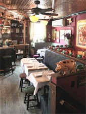 Dining room at The Spotted Pig, New York, NY