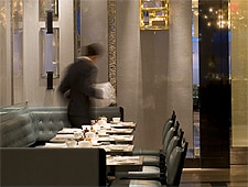 Dining room at The London Bar, New York, NY