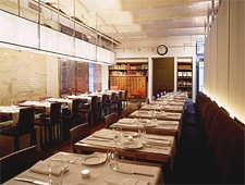 Dining room at Public, New York, NY