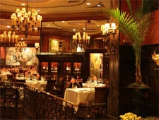 Dining room at Delmonico's, New York, NY