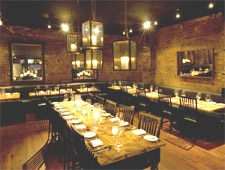 Dining room at Marc Forgione, New York, NY