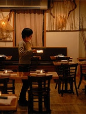 Dining room at Kuma Inn, New York, NY