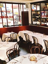 Dining room at Brasserie Cognac, New York, NY