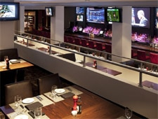 Dining room at Boomer Esiason's Stadium Grill, New York, NY