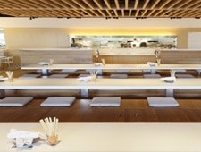 Dining room at DohYO and Terrace at FOUR, New York, NY