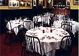 Dining room at Sparks Steak House, New York, NY