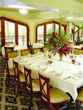Dining room at Darya Restaurant, Santa Ana, CA