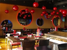 Dining room at RA Sushi Bar Restaurant, Huntington Beach, CA