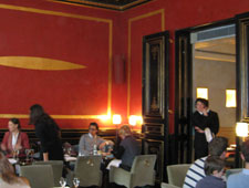 Dining room at Cafe Marly, Paris, france