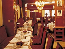 Dining room at Fouquet's, Paris, france