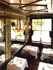 Dining room at Le Grand Vefour, Paris, france