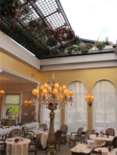 Dining Room at Restaurant Lasserre, Paris,