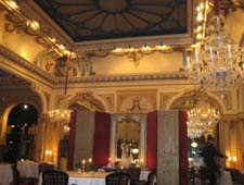 Dining room at La Grande Cascade, Paris, france