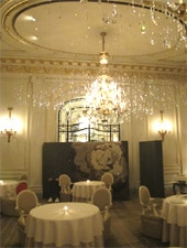 Dining room at THIS RESTAURANT IS TEMPORARILY CLOSED Alain Ducasse au Plaza Athénée, Paris, france