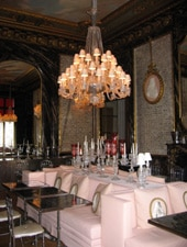 Dining room at La Cristal Room Baccarat, Paris, france