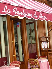 Dining room at La Fontaine de Mars, Paris, france