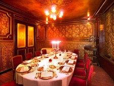 Dining room at Restaurant Laperouse, Paris, france