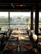 Dining Room at 58 Tour Eiffel, Paris,