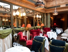 Dining room at Le Restaurant, Paris, france